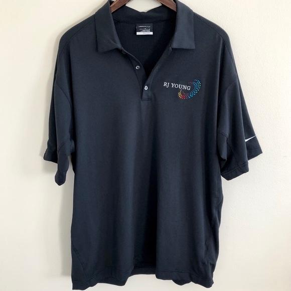 8f01ff4e6f Nike Shirts | 315 Golf Black Polo Rj Young Size Large | Poshmark